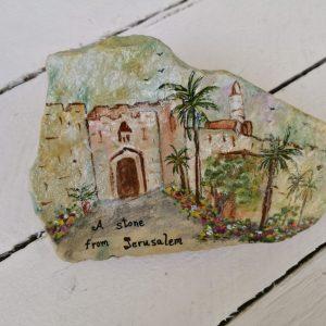 אבן מצויירת ירושלים